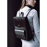 Кожаный городской рюкзак брендовый, фурнитура Италия, ручной работы  Blank - black point
