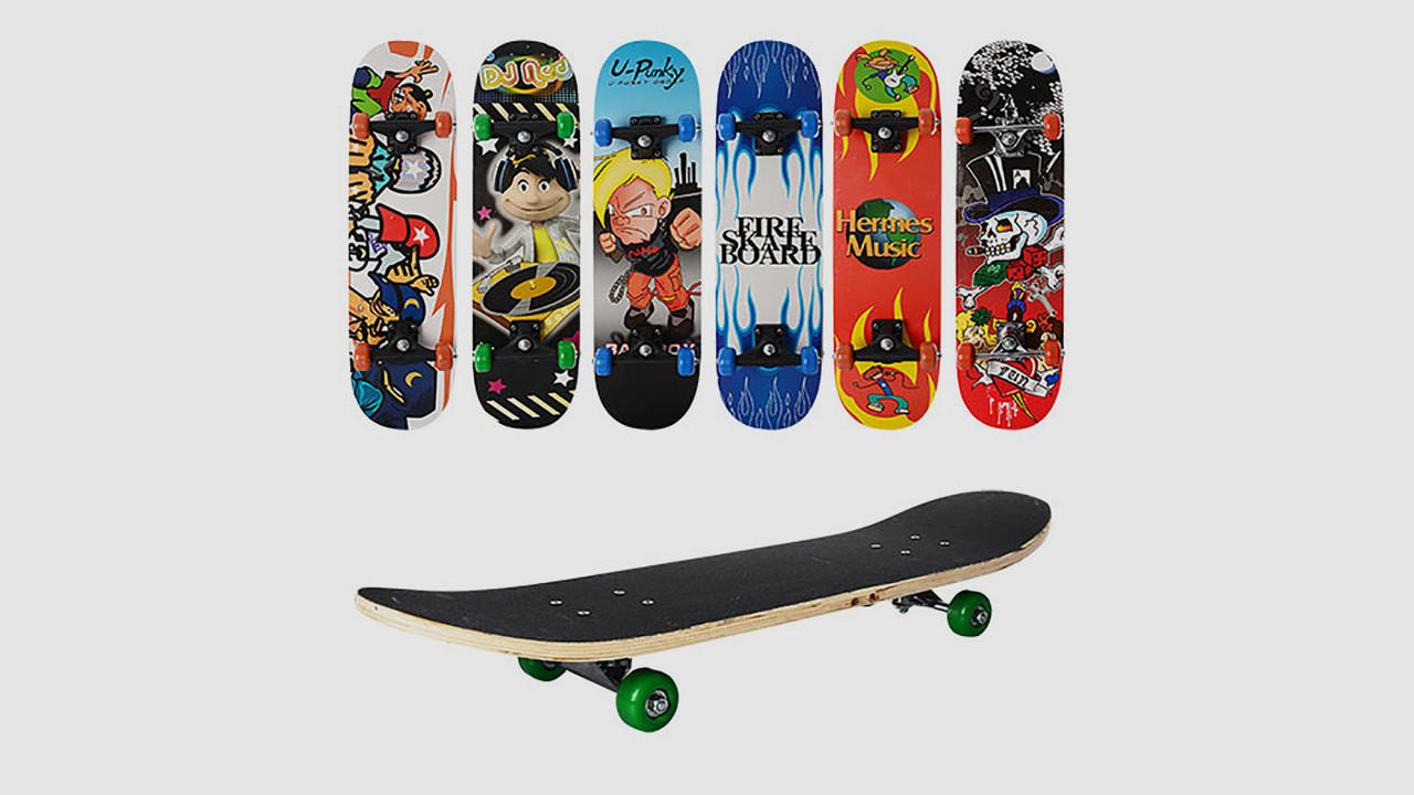 Детский деревянный скейт. PROFI MS 0322-3. 6 цветов