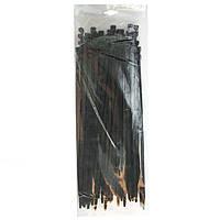 Хомут пластиковый черный 3.6x300 мм 100 шт