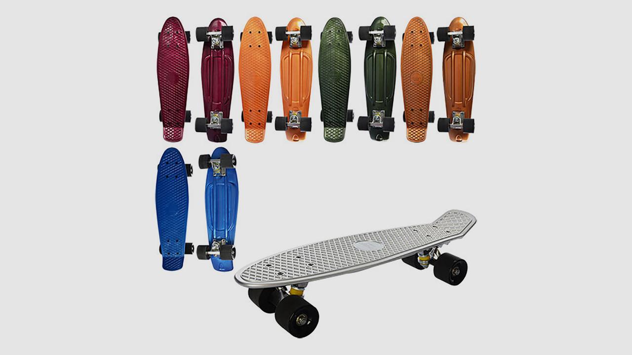 Скейт PROFI. Алюминиевая подвеска и подшипники ABEC-7. 6 цветов