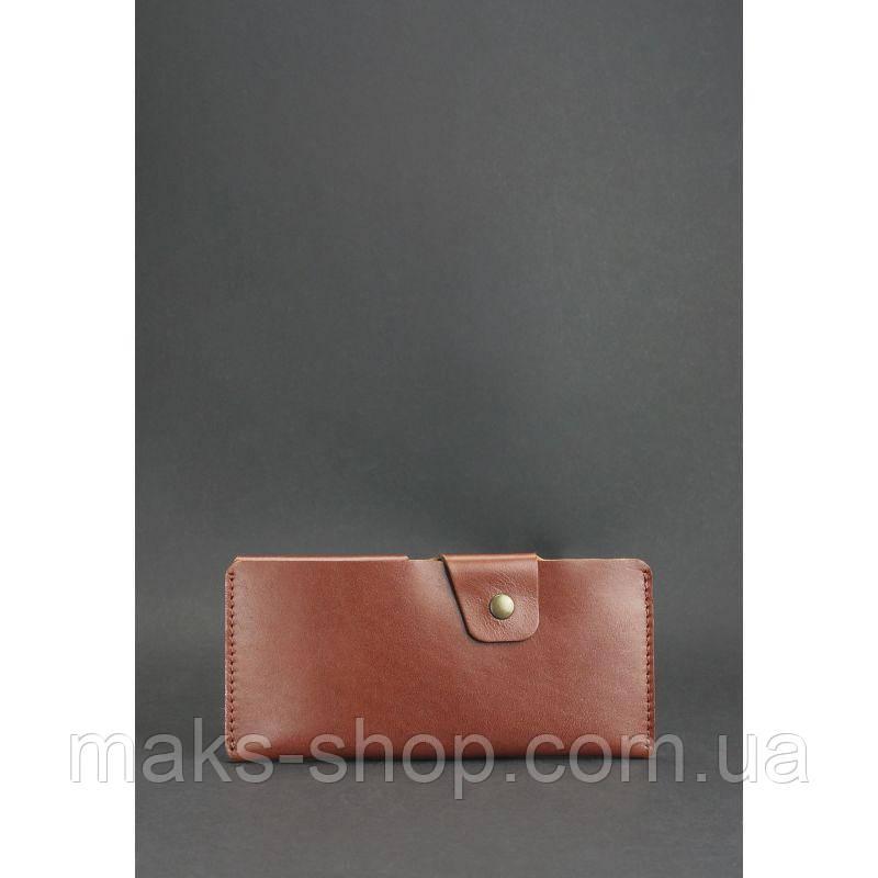 94a1e90d3e10 Классическое портмоне-купюрник, натуральная кожа закрывается на кнопку 8.0  коньяк (коричневый)