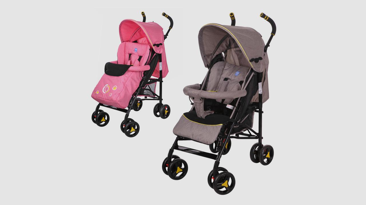 Коляска детская BAMBI прогулочная коляска-трость. 2 цвета (серый/розовый)
