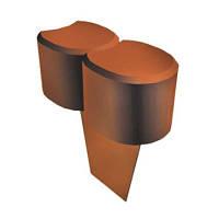Палисадник декоративный ZMM Maxpol 6 см светло-коричневый
