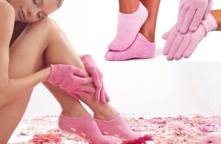 Гелеві рукавички і шкарпетки для spa догляду за руками і ногами