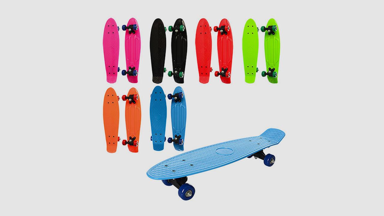 Скейт пенни с пластиковой подвеской. Колеса из ПВХ. 6 цветов.