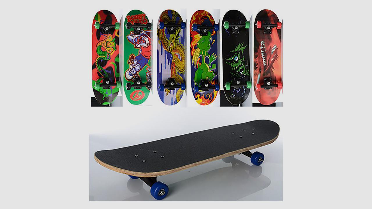 Детский деревянный скейт. PROFI MS 0354-3. 6 цветов