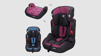 Автокресло детское EL CAMINO JUNIOR - автокресло-бустер. 2 цвета (голубое и фиолетовое)