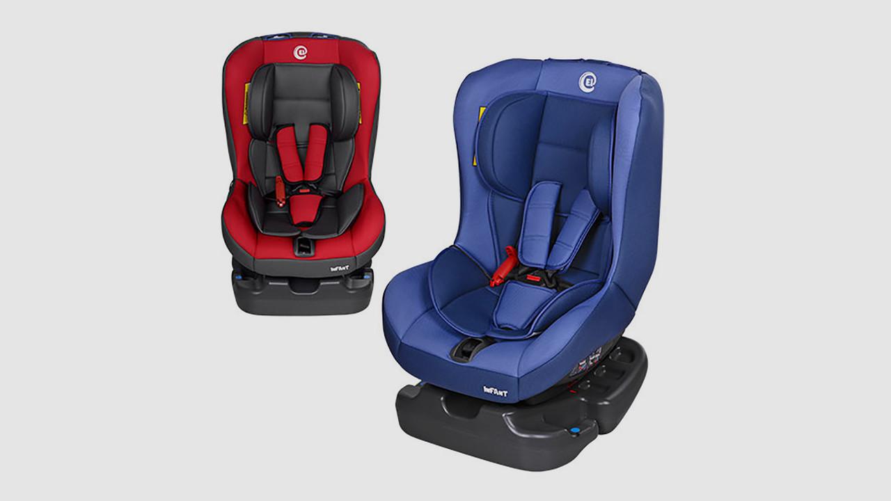 Автокресло детское EL CAMINO INFANT. 2 цвета (голубое или красное)