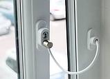 Детский замок - ограничитель окна с тросиком Cable Lock, фото 3