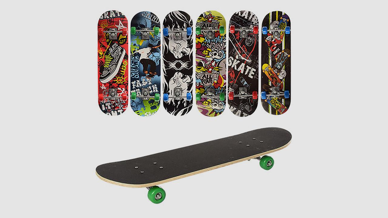 Скейт PROFI с алюминиевой подвеской. Колеса из ПВХ. 6 видов