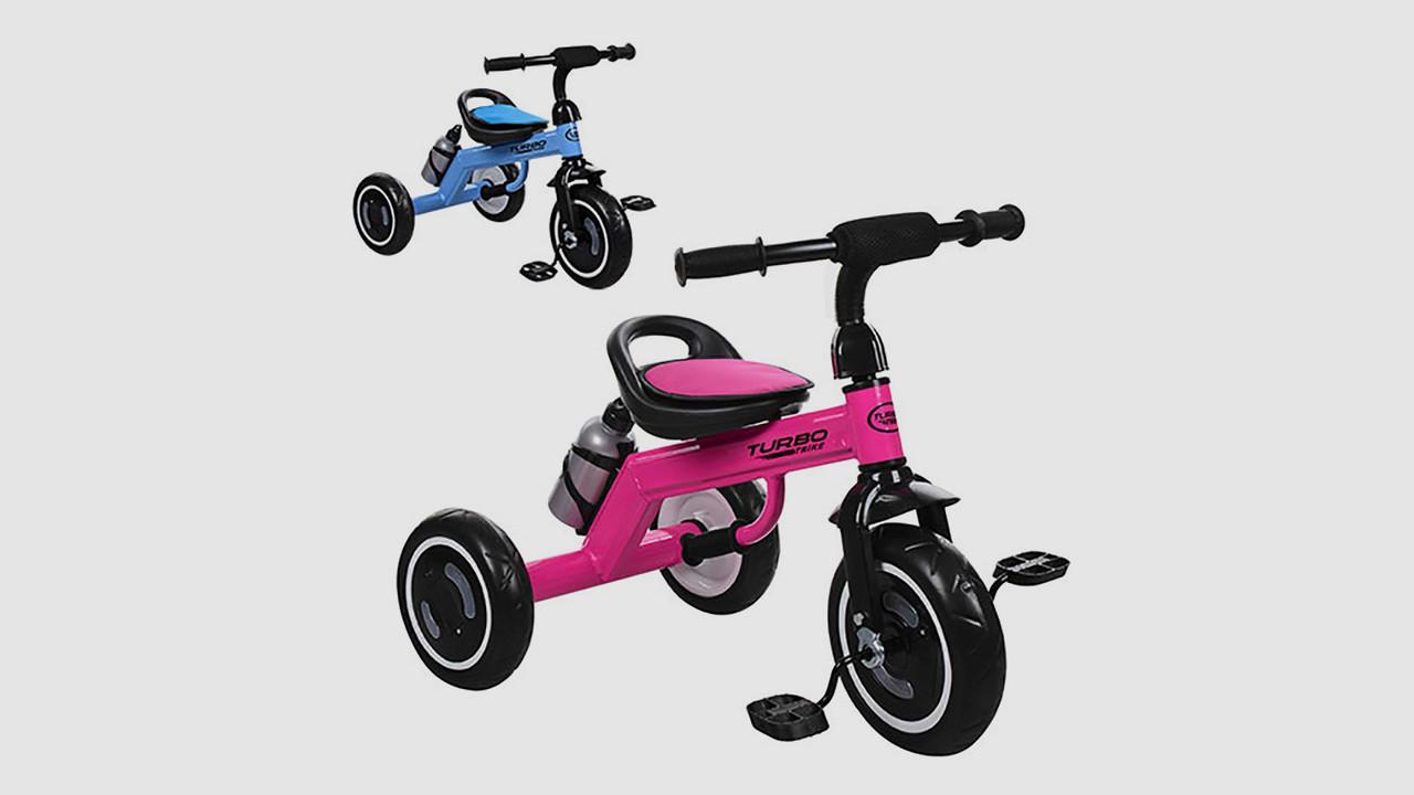 Велосипед трехколесный TURBOTRIKE. Светятся колеса. Цвета: малиновый и голубой