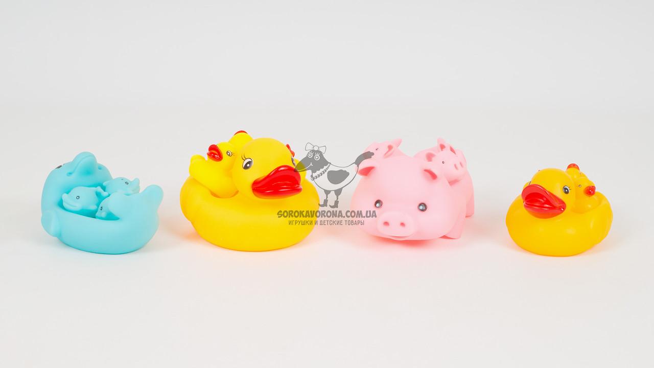 Набор игрушек-пищалок для купания (4 штуки). 4 вида