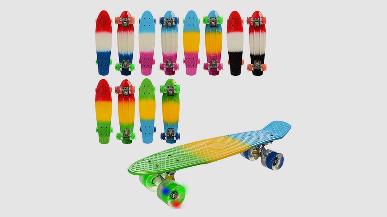 Скейт PROFI пенни с алюминиевой подвеской. Колеса из ПУ. 8 видов