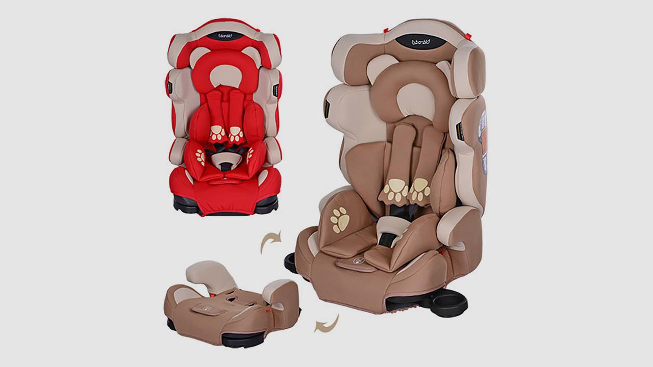 Автокресло детское BAMBI. 2 цвета (красный или бежевый)