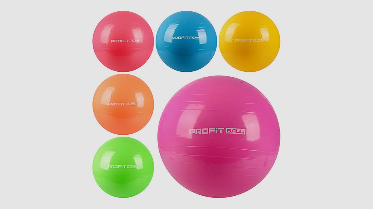 Мяч для фитнеса-фитбол. PROFI MS 0383. Диаметр 75 см. 6 цветов.Без насоса