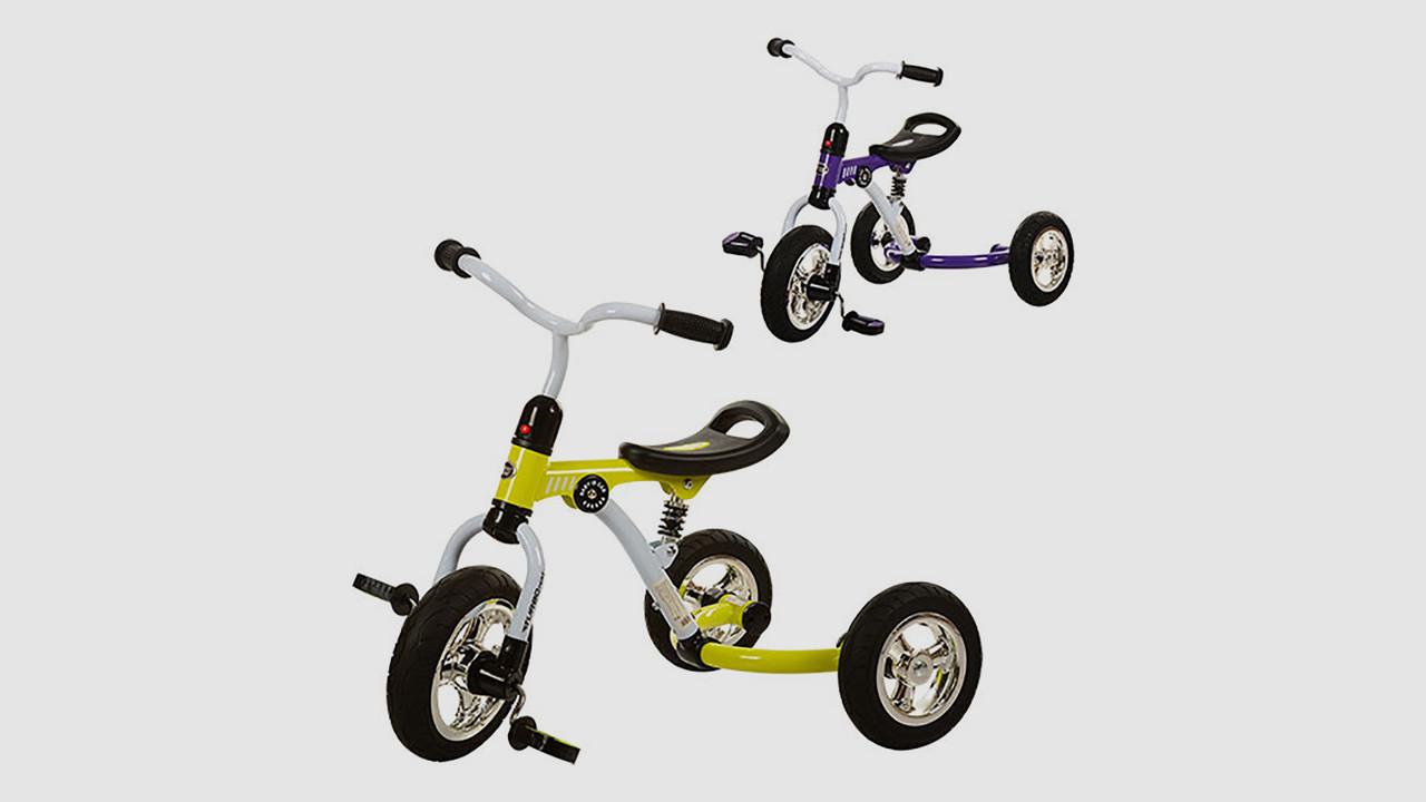 Велосипед трехколесный BAMBI. 2 цвета (фиолетовый и зеленый)