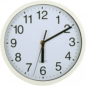 Часы  кварцевые настенные 23 см белые