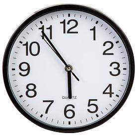 Часы настенные кварцовые 23 см черные
