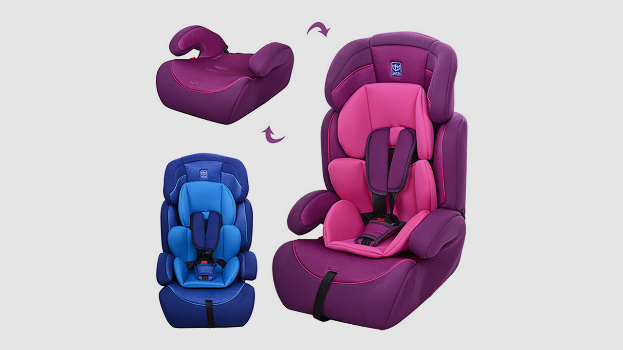 Автокресло детское BAMBI. 2 цвета (синий или фиолет)