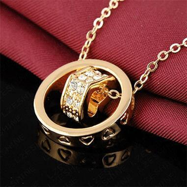 Изящный кулон Ring Heart