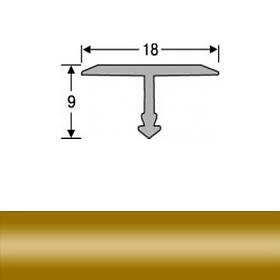 Профиль для плитки алюминиевый ТІС АТ-18 2.7 м золото