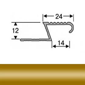 Профиль для плитки алюминиевый ТІС АЛПZ 2.7 м золото