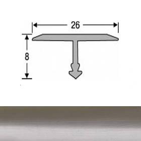 Профиль для плитки алюминиевый ТІС АТ-26 2.7 м полированный