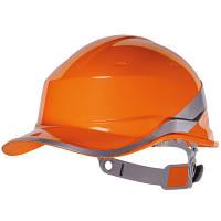 Каска защитная строительная Diamond 5 оранжевая