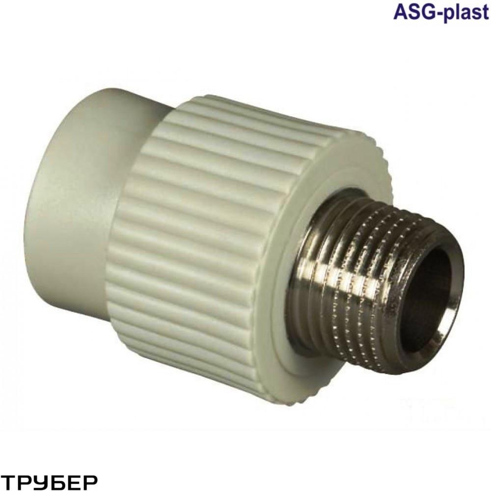 Муфта с наружной резьбой  90*3' полипропилен  ASG