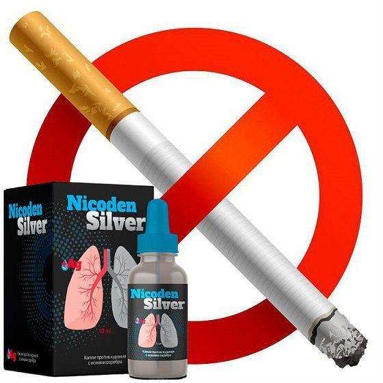 Капли от курения с ионами серебра Nicoden Silver