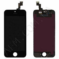 Дисплей (LCD) iPhone 5S/  SE с сенсором чёрный оригинал