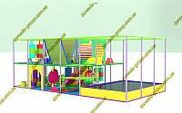 Детский игровой комплекс лабиринт с батутом Джамп для помещения, фото 1