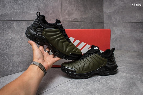 Кроссовки Nike Air Max 95 TN (черно/зеленые)