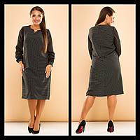 Сукня Claudia прямого крою, креп-костюмка, принт , фото 1