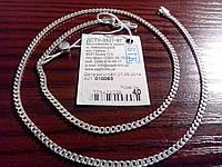 Серебряная тонкая цепочка - плетение Панцир