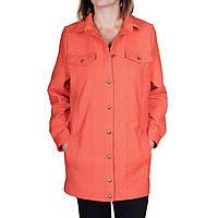 Куртка Velna О6005 в горох S Оранжевый, КОД: 258871