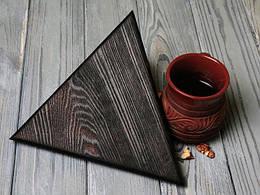 Подставка под горячее \ доска для сыра (треугольная)
