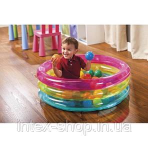 Игровой центр Бассейн Intex 48674 детский с шариками 50шт, фото 2