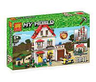Конструктор Lele My World Майнкрафт 33077 Элитный частный дом 3 в 1 738 дет аналог Lego Minecraft