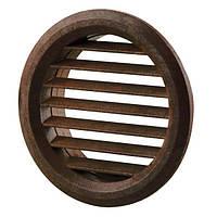 Вентиляционная решетка Vents МВ 50/4 бВ Ø59 мм коричневая