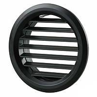 Вентиляционная решетка Vents МВ 50/4 бВ Ø59 мм черная