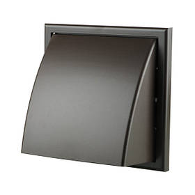 Вентиляционная решетка Vents МВ 186х142 мм Ø150 мм коричневая