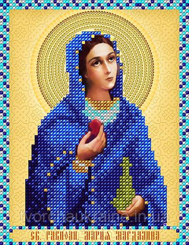 Схема на ткани для вышивания бисером Св.Равноап. Мария Магдалина. А-строчка .
