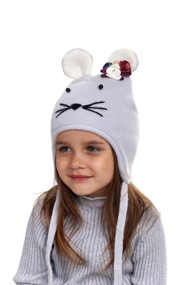 Детская шапка-ушанка для девочки, Nikola