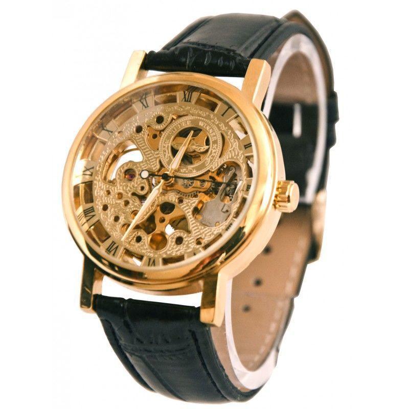 Механические мужские часы Skeleton Winner