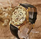 Механические мужские часы Skeleton Winner, фото 3
