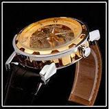 Механические мужские часы Skeleton Winner, фото 4
