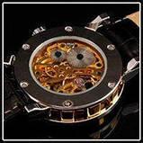 Механические мужские часы Skeleton Winner, фото 5