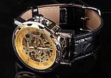 Механические мужские часы Skeleton Winner, фото 6