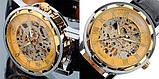 Механические мужские часы Skeleton Winner, фото 7